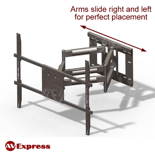 Full Motion Articulating Tv Wall Mount, Extra Long Swing Arm Tv Mount